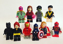 My Version of The Avengers (David$19) Tags: lego legomarvel legoavengers avengers legocustomavengers ironman captainamerica blackwidow thor janefoster hulk scarletwitch vision wasp spiderman blackpanther legocustoms legocustommarvel marvel marvelavengers davids19 david19 superheroes marvelsuperheroes marveluniverse