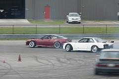 Tandem (Find The Apex) Tags: nolamotorsportspark nodrft drifting drift cars automotive automotivephotography nissan 240sx nissan240sx s13 tandemdrift tandem tandemdrifting tandembattle