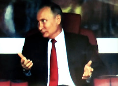 It is What it Is (knightbefore_99) Tags: russia 2018 football futbol beautiful game worldcup fifa sport vladimir red tie tsar meh hands gesture scary tv screenshot used car putin