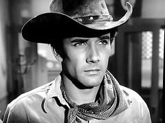 "Robert Fuller, ""Laramie,"" Episode: ""General Delivery,"" Original air date: 11/3/1959 (stalnakerjack) Tags: hollywood television tv actors westerns robertfuller laramie"