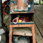 Offering box, Wat Faham, Chiang Mai, Thailand thumbnail