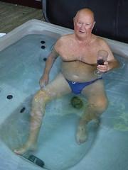 Hot tub & wine (pj's memories) Tags: hottub gisburnforestlodge speedos slip brief s merlot wine