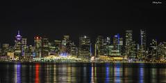 Vancouver Downtown Skyline (rickyruan) Tags: explore explorebc explorecanada bc vancouver northvancouer vancouvernight night skyline reflection lights beautifulbc beautifulbritishcolumbia longexposure