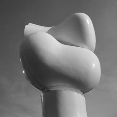 L'amour (Howard Sandler (film photos)) Tags: lamour statue placeduportage blackandwhite film square 6x6 mediumformat zeiss superikonta tessar delta xtol