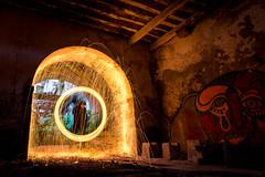 Dr. Strange just arrived (Hugo Carvoeira) Tags: tunel abandon building quinta arealva lisbon portugal almada long exposure burn steel wool