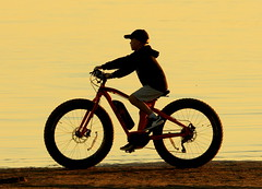 Boy and  bike (irio.jyske) Tags: naturephoto nature naturephotograph naturepic naturepictures naturephotographer naturepics naturephotos natural naturescape photographer photograph photos pic travel tourist bike cycling beach shore sand dunes sunset boy evening night