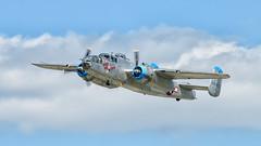WWII_weekend--5.jpg (gdober1) Tags: autoupload wwiiweekend worldwarii aircraft b25 mitchell bomber takeofftime aviation airshow