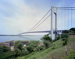 Verrazano Bridge (devb.) Tags: 4x5 largeformat chamonix045n2 75mm ektar verrazanobridge statenisland nyc ny