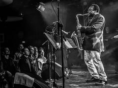 David Murray, Tampere, 2015 (Jukka Piiroinen) Tags: tamperejazzhappening jazz mustavalkoinen blackwhite jazzphotography näyttely exhibition