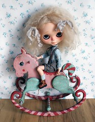 Rocking horse AC PAR (Rebeca Cano ~ Cookie dolls) Tags: rocking horse handmade wood wooden blythe antique circus rebecacano cookiedolls