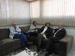 15/06/18 - Visita ao Grupo A Plateia em Santana do Livramento/RS. Com o diretor-presidente, Antonio Badra, o vereador Maurício Del Fabro (Galo), e equipe.