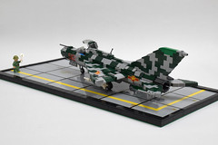 VPAF MiG-21PFM Fishbed (4) (Dornbi) Tags: lego mig21 mig21pfm vietnam fishbed 140 diorama