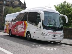 Harry Shaw of Coventry Scania K360IB4 Irizar i6 YR16BLZ, in Expat Explore livery, at Johnston Terrace, Edinburgh, on 26 June 2018. (Robin Dickson 1) Tags: harryshawofcoventry irizari6 busesedinburgh scaniak360ib4 expatexplore