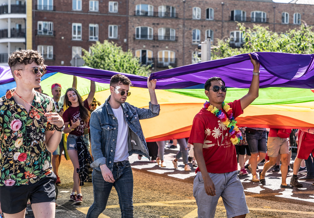 ABOUT SIXTY THOUSAND TOOK PART IN THE DUBLIN LGBTI+ PARADE TODAY[ SATURDAY 30 JUNE 2018] X-100044