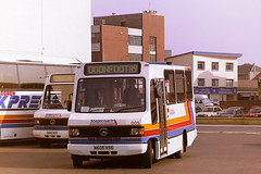 STAGECOACH WESTERN SCOTTISH 005 N605VSS (bobbyblack51) Tags: stagecoach western scottish 005 n605vss mercedes benz 709d alexander sprint ayr bus station 1996