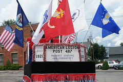 American Legion parade float (D. C. Wilson) Tags: holiday july 4th independence flag carnival parade ride sign text