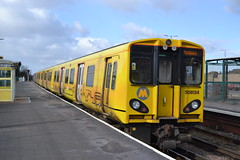Merseyrail 508134 (Will Swain) Tags: north west train trains rail railway railways transport travel uk britain vehicle vehicles country england english liverpool 17th march 2018 merseyside class 507 508 station hall road merseyrail 508134