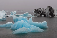 Out of the Fog (pdxsafariguy) Tags: jokulsarlon glacier lagoon iceland iceberg fog foggy ice water glacial nature landscape blue arctic europe vatnajokull tranquil landmark tomschwabel