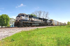 NS 276 (Steve Hardin) Tags: executive emd sd70mac et44ac locomotive engine bnsf progressrailservices prlx norfolksouthern railway railroad railfan train autorack oostanaula georgia