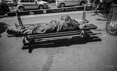 au soleil (Jack_from_Paris) Tags: l1013495bw leica m type 240 10770 leicasuperelmarm13421mmasph 21mm lightroom capture nx2 noiretblanc bw rangefinder télémétrique dng mode wide angle street paris 13 banc bench sun soleil avenue sdf urban urbain bath bain de waisting time attente nap sieste