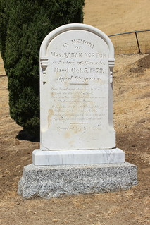 Sarah Norton Tombstone, Rose Hill Cemetery