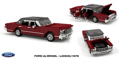Ford do Brasil - Landau 1976 (lego911) Tags: ford landaul ltd galaxie 1966 1976 sedan saloon do brasil brazil v8 luxury south america auto car moc model miniland lego lego911 ldd render cad povray 1970s classic
