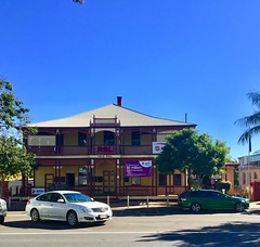 """Childers. The wooden RSL building. It was built in 1901 as the Commercial Bank of Sydney. (denisbin) Tags: childers heritage """"isis shire offices"""" rsl """"childers hotel"""" church catholic """"catholic church"""" catholic"""""""