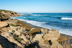 Magnificent Rye coastline (Marian Pollock) Tags: australia victoria rye sea coastline seashore ocean waves choppy rocks grass vegetation cliffs blue rugged seascape surfbeach