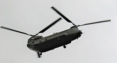 CHINOOK OVERFLYING NEWCASTLE AIRPORT (toowoomba surfer) Tags: raf helicopter aviation ncl