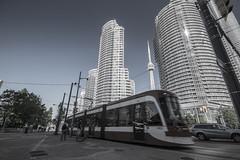 Streetcar (ap0013) Tags: streetcar toronto ontario canada torontostreetcar cntower city downtown architecture transit