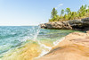 Heat Wave (Aaron Springer) Tags: michigan upperpeninsulaofmichigan lakesuperior thegreatlakes wave water sunny sandstone rock trees outdoor nature landscape