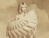 Movement~ (Mystica_Art) Tags: sketch study sepia angel wings
