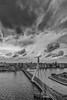 Erasmusbrug Rotterdam (Jan Hoogendoorn) Tags: nederland netherlands rotterdam blackandwhite zwartwit zw bw stad city brug erasmusbrug bridge wolken clouds