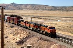 Swoosh Times Three 2018.06.07.15.19.13 (Jeff®) Tags: jeff® j3ffr3y copyright©byjeffreytaipale bnsf arizona railroad train tracks transportation orange bluesky