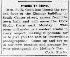 1928 - Cook leases Zimmer bldg on S Center - Enquirer - 12 Apr 1928
