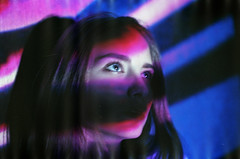 Maria (belousovph) Tags: analog film portra kodak girl portrait portra400 neon eyes olympus olympusom zuiko light cinema proection 35 35mm