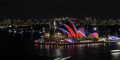 Vivid Sydney 2018 -  Light, Music & Ideas Festival (3) (geemuses) Tags: sydney vividsydney2018 light music ideasfestival sydneyoperahouse colour timelapsephotography sydneyharbourbridge sydneyharbour water extendedexposure projections nightphotography sky contrast