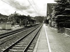 Tracks (diarnst) Tags: bahnhof railwaystation tracks schienen sw bw