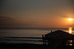 oceanfront sunrise (jojoannabanana) Tags: 3652018 beach dawn light morning northcarolina obx outerbanks shadows silhouette sky sunlight sunrise water waves