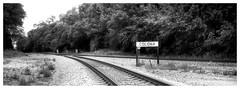 Out with a Point n Shoot - Colona (JourneysEnd1750) Tags: caffenol railroad film analog fujifilm 312zoom panorama fomapan quadcities 35mmfilm