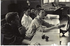 OVS_P_00043 (NSCDS Archives) Tags: math billguenzel classof1964 tommoore lewistaylor classroom blackandwhite camera academics arithmetic textbooks