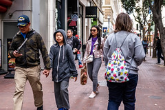 San Francisco 2018 (burnt dirt) Tags: sanfrancisco california vacation town city street road sidewalk crossing streetcar cablecar tree building store restaurant people person girl woman man couple group lovers friends family holdinghands candid documentary streetphotography turnaround portrait fujifilm xt1 color laugh smile young old asian latina white european europe korean chinese thai dress skirt denim shorts boots heels leather tights leggings yogapants shorthair longhair cellphone glasses sunglasses blonde brunette redhead tattoo pretty beautiful selfie fashion japanese hat bag purple gray