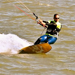 Kite Surfer (cb|dg photo) Tags: wind watersports water sport sanfranciscobay richmond marinabay kitesurfing kitesurfer kiteboarding kite california