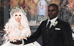 Damien and Be's Wedding 1 (Vixxen Rainbow-Clowes) Tags: secondlife second life sl damien godard bewitched difference wedding bride groom vows love marriage