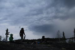 Storm is coming (Camusi) Tags: summer été canada territoiresdunordouest tno northwestterritories northof60 nord nwt north yellowknife camping lake lac water eau canotcamping sky ciel silhouette storm orage sombre midnightsun hiddenlake