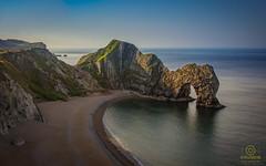 durdle door (kapper22) Tags: sea blue outdoor sky water rocks dorset grass sand beach yellow durdle door