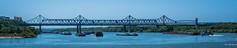 2018 - Romania - Cernavodă - Anghel Saligny Bridge (Ted's photos - For Me & You) Tags: 2018 avalonwaterways constanta cropped nikon nikond750 nikonfx romania tedmcgrath tedsphotos vignetting anghelsalignybridge anghelsalignybridgeromania cernavodăromania cernavodă anghelsalignybridgecernavodă danuberiver danube river bridge water wideangle widescreen boats