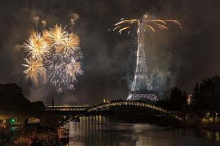 Eiffel Tower Fireworks 2018