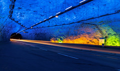 Lærdalstunnel Worlds longest tunnel Norway (kenthelleland) Tags: tunnel norway visitnorway canon longexposure road light color longest travel