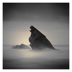 Sea Monster II (Vesa Pihanurmi) Tags: seascape beach rock portugal sintra praiadaadraga shore ocean stack seastack